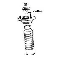 Thumb collar mr2 rear shock suspension